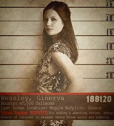 Wanted : Ginny Weasley