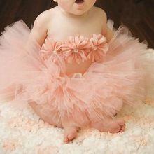 7a63adc3320c3 Bébé Fille En Bas Âge De Fleurs Vêtements + Bandeau + Tutu Jupe Photo Prop  Costume