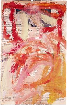 "igormaglica: Willem de Kooning (1904-1997), Untitled, 1969. oil on newspaper, 23"" x 14 ½"""