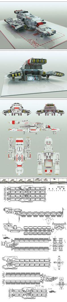 Alien Isolation concept art 51 by bradwright.deviantart.com on @deviantART