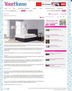 How to buy a mattress and what to look for. Octaspring features in YourHome magazine March 2013 @Your_Home #MemoryFoam