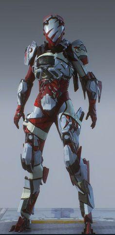 Robot Concept Art, Weapon Concept Art, Armor Concept, Futuristic Armour, Futuristic Art, Character Concept, Character Art, Character Design, Combat Armor