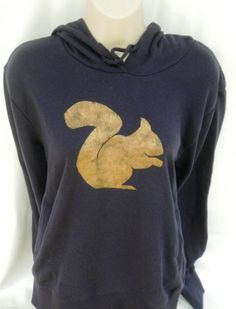 Squirrel hoodie navy  low CO2 organic cotton by TheLPHProject, $50.00