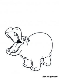 Hippo Coloring Page To Go With Wild Kratts Episode Race For The Disc