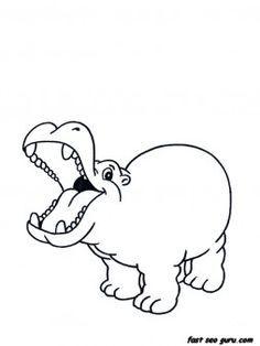 Image result for hippopotamus preschool craft