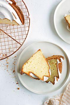 meyer lemon and vanilla pound cake with sour cream icing
