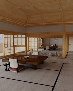 beautiful japanese hotel room by scottmichaelh