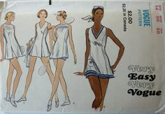 Vintage Sewing Pattern Very Easy Vogue 8257 - Women's Tennis Dress & Shorts - Size 14 - Bust 36 inches - UNCUT