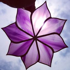 Made to Order Medium Purple Stained Glass Sun by Sweveneers