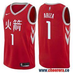3243ce599 Houston Rockets  1 Trevor Ariza Red Nike NBA Men s Stitched Swingman Jersey  City Edition