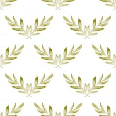 watercolor pattern with leaves @creativework247