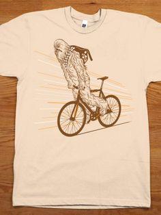Chewbacca Mountain Bike Tee http://www.sma-summers.com/camp-activites/land-adventure-activities/mountain-biking/