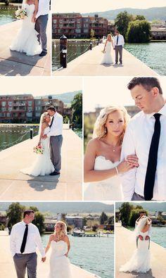 Luxury Okanagan Wedding Photographer,  © Eternal Reflections Photography, Okanagan Lake wedding photography  Peach and grey wedding photography