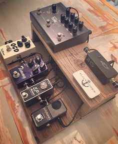 "Really dig the story behind this board thanks to @gearstories. You see so much gear on here all day so it's nice every so often to hear about where it came from and why... ""I made this pedalboard one night while my wife was out with her friends. It was a slab of an old fence from the '60s that had fallen down in my backyard before we moved in. I threw it together in a few minutes sanded it stuck some pedals on it and foamed up a toolbox from Home Depot to keep everything safe."" #Stringjoy…"