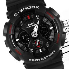Casio Men's G-Shock GA120-1A Black Resin Quartz Watch
