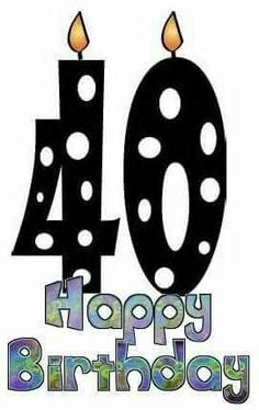 happy 40th birthday my birth rh pinterest com 40th birthday pictures clip art happy 40th birthday clip art free