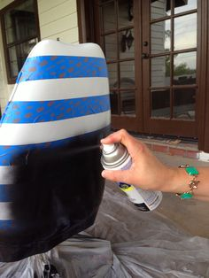 How to spray paint a vinyl chair: Krud Kutter to get the gunk off, then spray paint meant for vinyl or plastic