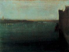James Whistler nocturne grey gold