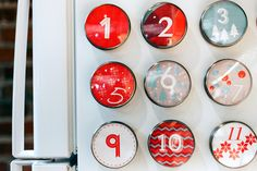 A fresh take on the classic advent calendar. Hang on your refrigerator for holiday fun!