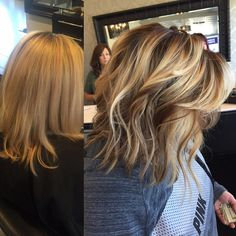 Before & After from today  Fabulously #blended roots with some balayaged low & high lights added