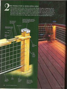 Wild Hog brand metal deck railing installed on a deck in ...