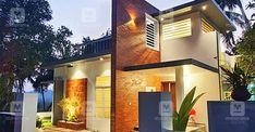 Indian Home Design, Kerala House Design, My Home Design, Indian House Plans, My House Plans, 800 Sq Ft House, House Outside Design, Patio Plans, Modern House Facades