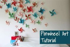 Hi there fellow Frugal Girls! I& so excited to be here sharing a fun little DIY Pinwheels Tutorial that gets high-impact decorating results for almost no cost. Pinwheel Tutorial, Diy Pinwheel, Diy Tutorial, Pinwheel Cake, Crafts To Do, Crafts For Kids, Arts And Crafts, Diy Crafts, Origami