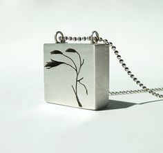 Sterling Silver Pendant Cut it Out by JWMetalArts on Etsy