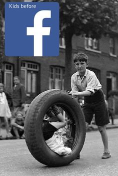 What kids did before Facebook: Amazing pictures of children playing in street 100 years ago