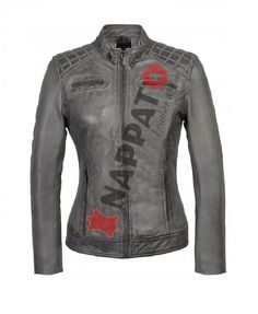 LEATHER JACKET  Sonia Charcoal