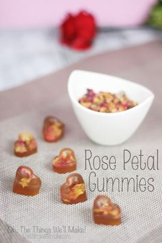 Roses are an edible flower, perfect for confecting Valentine's Day treats. These rose petal gummies are beautiful and healthier than candy alternatives. While they look impressive, they are actually quite simple to make!