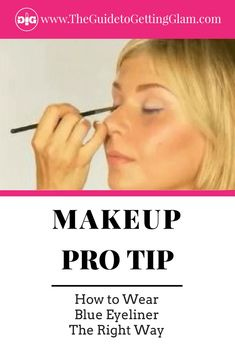 Makeup tip: Want to learn how to wear blue eyeliner the right way? Watch this pro makeup artist tutorial to learn the best way to wear electric blue eyeliner. Makeup Artist Tips, Eyebrow Makeup Tips, Smoky Eye Makeup, Best Makeup Tips, No Eyeliner Makeup, Best Makeup Products, Beauty Products, Eyeliner Ideas, Eyeliner Tutorial