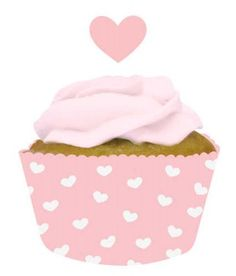 12 x Pink Heart Cupcake Cases Picks Toppers Set Decoration Girl Party Baby Cupcake Wraps, Cupcake Cases, Rose Pic, Party Supplies Australia, Sweet Party, Party World, Heart Cupcakes, Pink Frosting, Bar