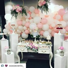 A little trip down memory lane. Nice soft pastel pinks and white balloon wall we did for a christening few months back. Turned out beautiful. #balloons #balloon #events #eventballoons #whiteballoons #pinterest #balloonwall #christening #lollybuffet #partyballoons #kidspartyideas #Repost @xoxoevents_ with @repostapp ・・・ Full christening set up from the weekend. Tap for credits. Venue - @zealouscafeandcatering Plinths and console @stylish.touch Florals @stemsbyabby & @xoxoevents_ Pedesta...