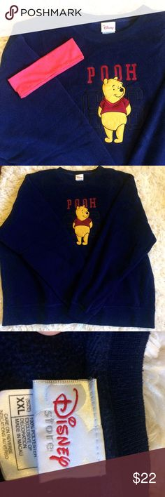 Indie Pooh pull-over sweatshirt Cute sweatshirt, would look great oversized with leggings! I believe this is 90s vintage. Bought from the Disney store. Super adorable and cozy! Only worn once Disney Tops Sweatshirts & Hoodies