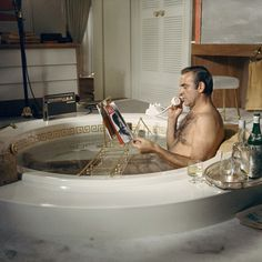 Terry O'Neill, 'Scottish actor Sean Connery as James Bond taking a bath during the filming of 'Diamonds Are Forever', Las Vegas, 1971', 1971