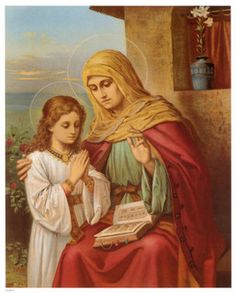Anne and Mary, St Anne is my confirmation patron saint Blessed Mother Mary, Blessed Virgin Mary, Catholic Prayers, Catholic Saints, Novena Prayers, Catholic Religion, Catholic Art, Roman Catholic, Patron Saints