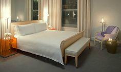 Luxury Elegant Deluxe King Room Interior Design of Clift Hotel, San Francisco