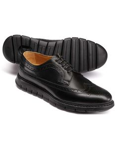 6ae3c28d9 Black extra lightweight Derby brogue shoes