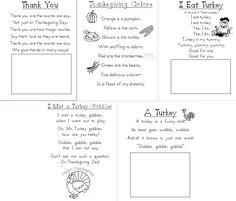 Aloha Kindergarten!: Poetry Journals-november poems
