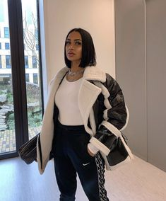 30 hottest winter outfits cold ideas to wear right now Girls Winter Fashion, Black Girl Fashion, Winter Fashion Outfits, Look Fashion, Autumn Winter Fashion, Womens Fashion, Fashion 2020, Fall Fashion, Winter Mode Outfits