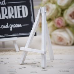 Mini easels to hire to display menus and table numbers by Fuschia...