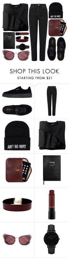 ain't no wifey by rosiee22 on Polyvore featuring moda, Miss Selfridge, Puma, Vanessa Mooney, CLUSE, Club L, Miu Miu, MAC Cosmetics and Sloane Stationery