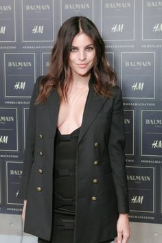 Julia Restoin Roitfeld at the Balmain x H&M show