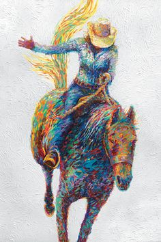 "Even the white is textured ""Rodeo"" - canvas print by Iris Scott"