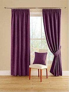 Aubergine curtains