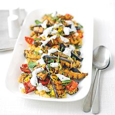 Want to make a warm veggie salad that's bursting with bold #Moroccan flavours? Try our Spiced vegetables with #LemonyBulghar #wheat #salad – it's ready in 30 minutes and it's low on calories. Get the recipe in Good Food India's September issue.