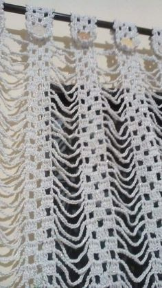 Curtain – Curtain Rideau – Curtain Id - Diy Crafts Filet Crochet, Crochet Diy, Crochet Motifs, Crochet Home, Thread Crochet, Irish Crochet, Crochet Doilies, Crochet Stitches, Crochet Patterns