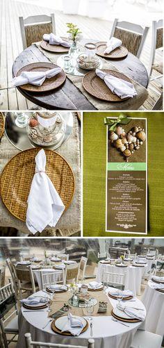 Casamento na praia | Detalhes da mesa dos convidados