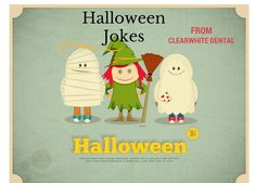 Happy Halloween Retro Card with Witch, Mummy and Ghost. Best Halloween Jokes, Halloween Teeth, Halloween Cards, Happy Halloween, Halloween Stuff, Dental Humor, Jokes For Kids, Graphic Illustration, Illustrations